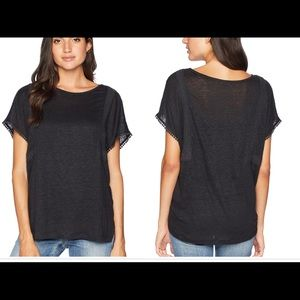 NWT NYDJ women's Linen Tee with lace detail XL